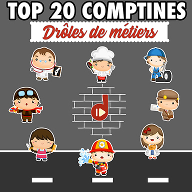 Artistes divers - Top 20 comptines : drôles de métiers