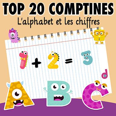 Artistes divers - Top 20 comptines : l'alphabet et les chiffres